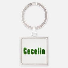 Cecelia Grass Square Keychain