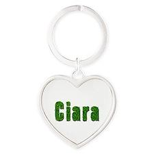 Ciara Grass Heart Keychain
