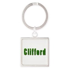 Clifford Grass Square Keychain