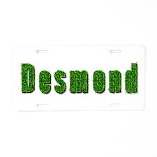 Desmond Grass Aluminum License Plate