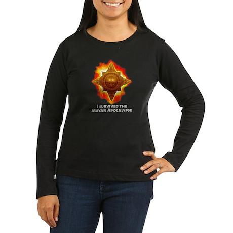 Mayan Apocalypse Women's Long Sleeve Dark T-Shirt