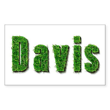 Davis Grass Rectangle Sticker
