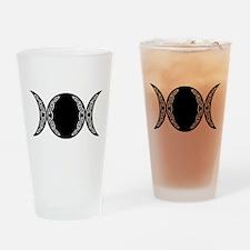Triple Goddess Moon Symbol Drinking Glass