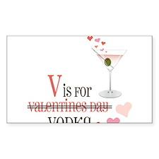 V Is For Vodka Decal