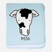 Moo baby blanket
