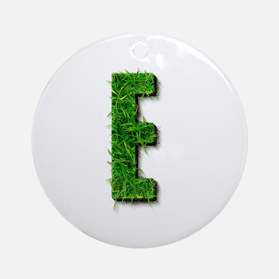 E Grass Round Ornament