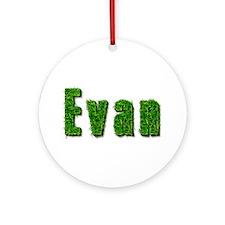 Evan Grass Round Ornament
