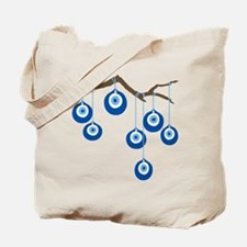 Blue Eye Amulets On Branch Tote Bag