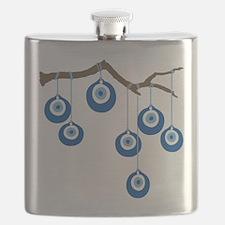 Blue Eye Amulets On Branch Flask