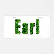 Earl Grass Aluminum License Plate