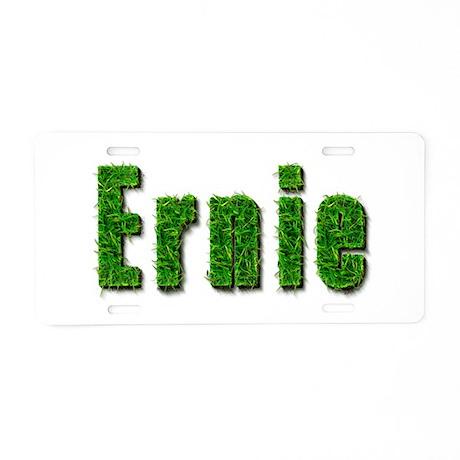 Ernie Grass Aluminum License Plate