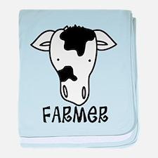 Farmer baby blanket