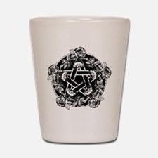 Pentacle With Roses Shot Glass