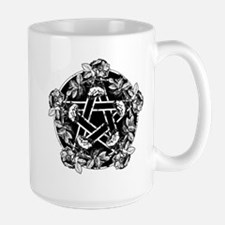 Pentacle With Roses Large Mug