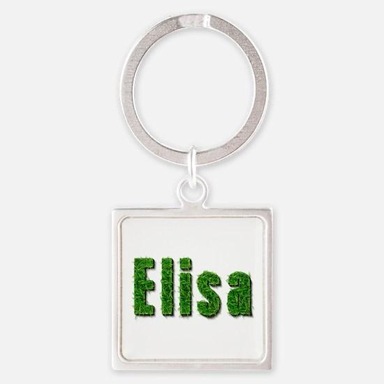 Elisa Grass Square Keychain
