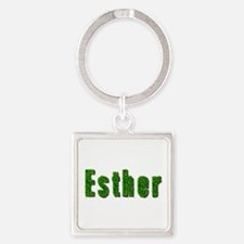 Esther Grass Square Keychain