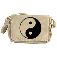 Yin Yang Symbol Messenger Bag