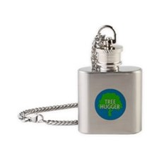 TREEHUGGER... Flask Necklace