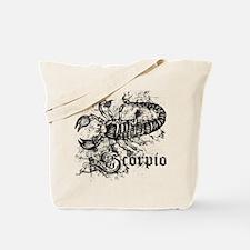 Worn Zodiac Scorpio Tote Bag
