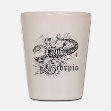 Worn Zodiac Scorpio Shot Glass