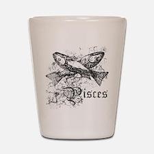 Worn Zodiac Pisces Shot Glass