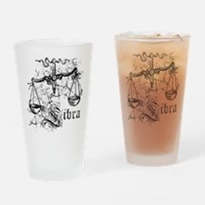 Worn Zodiac Libra Drinking Glass