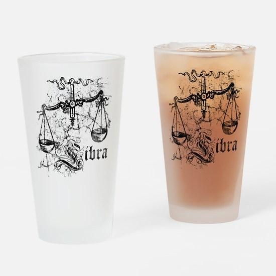Worn Zodiac Libra Drinking Glass
