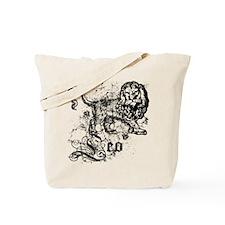 Worn Zodiac Leo Tote Bag