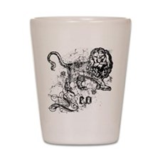 Worn Zodiac Leo Shot Glass