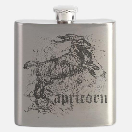 Worn Zodiac Capricorn Flask