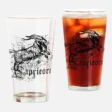 Worn Zodiac Capricorn Drinking Glass