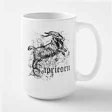Worn Zodiac Capricorn Large Mug