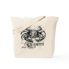 Worn Zodiac Cancer Tote Bag