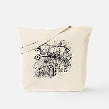 Worn Zodiac Aries Tote Bag