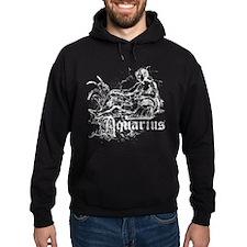 Worn Zodiac Aquarius Hoodie