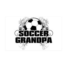 Soccer Grandpa (cross).png Wall Decal