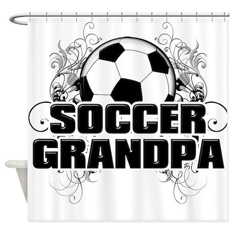 Soccer Grandpa (cross).png Shower Curtain