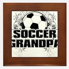 Soccer Grandpa (cross).png Framed Tile