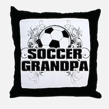 Soccer Grandpa (cross).png Throw Pillow