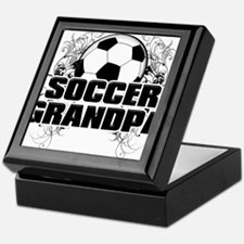 Soccer Grandpa (cross).png Keepsake Box