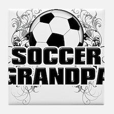 Soccer Grandpa (cross).png Tile Coaster