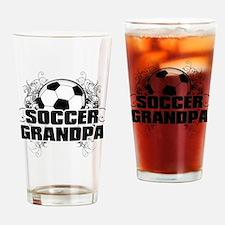 Soccer Grandpa (cross).png Drinking Glass