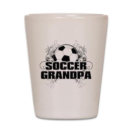Soccer Grandpa (cross).png Shot Glass