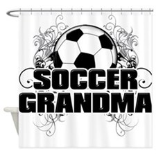 Soccer Grandma (cross).png Shower Curtain