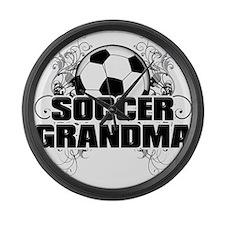 Soccer Grandma (cross).png Large Wall Clock