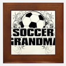Soccer Grandma (cross).png Framed Tile