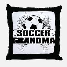 Soccer Grandma (cross).png Throw Pillow
