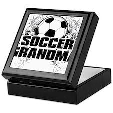 Soccer Grandma (cross).png Keepsake Box