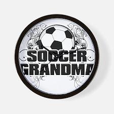 Soccer Grandma (cross).png Wall Clock