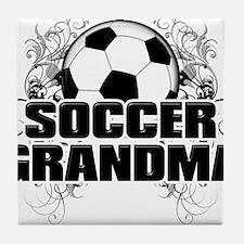 Soccer Grandma (cross).png Tile Coaster